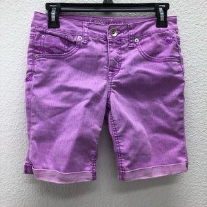 Justice purple Bermuda Simply Low shorts